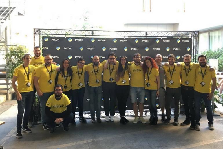 Lo staff del Pycon è stato di grande aiuto e collaborazione nella riuscita dell'evento aggregativo
