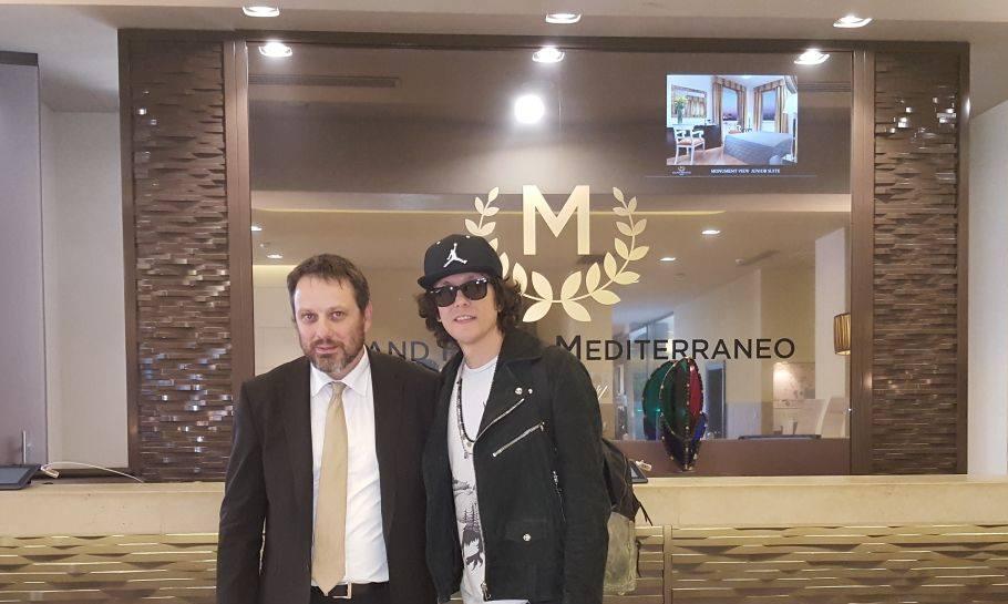 ermal meta al grand hotel mediterraneo Firenze