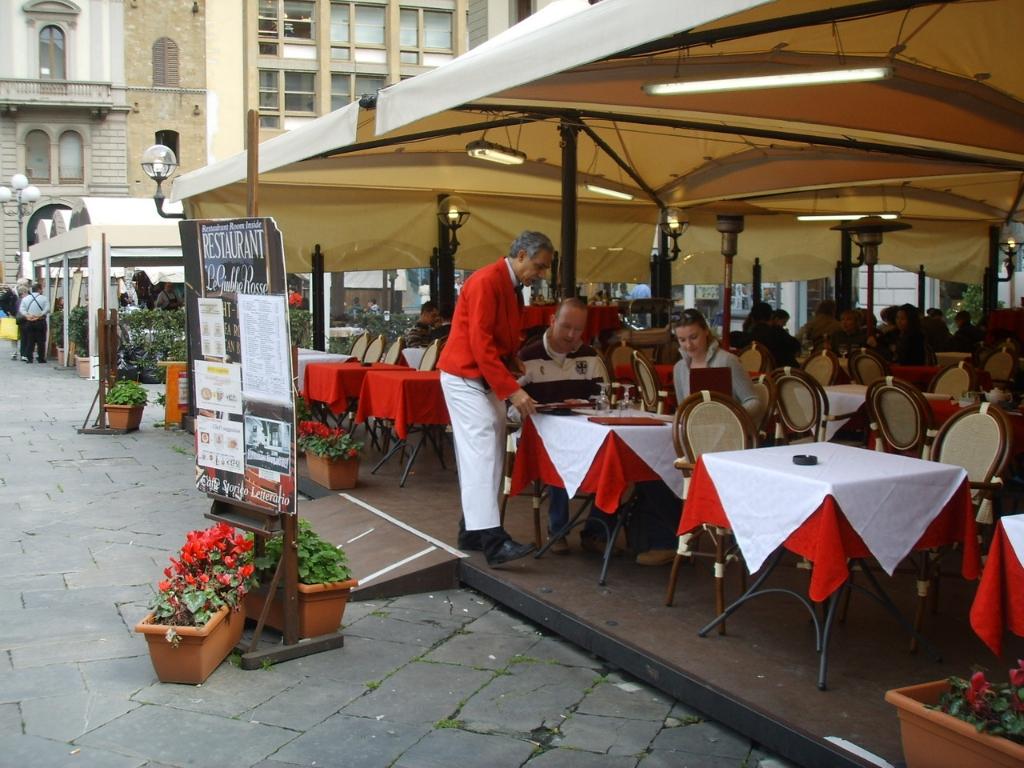 Le Giubbe Rosse - Caffè letterario - Firenze, Italia