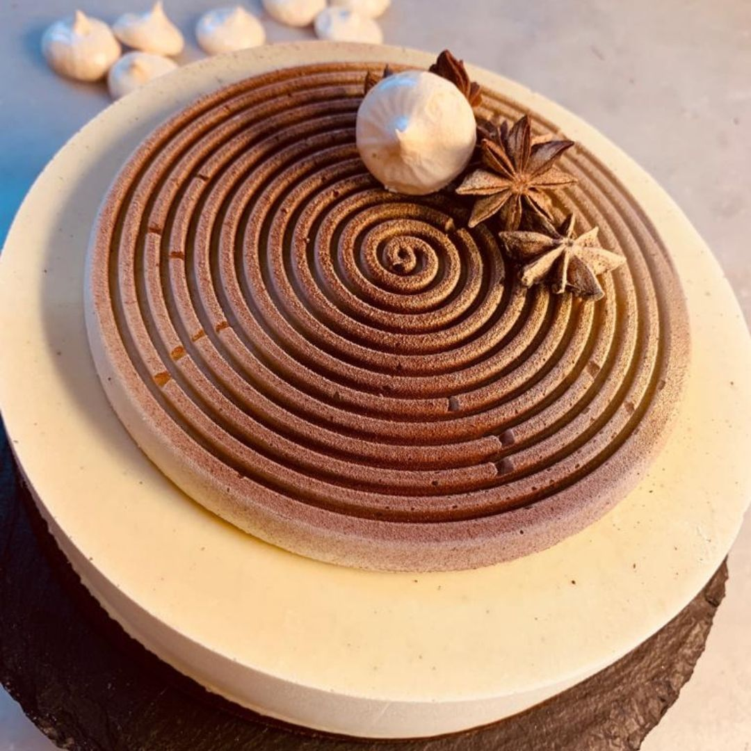dolci e torte creative - bavarese al pistacchio - arte pasticcera - Lina Shopova - FH55 Grand Hotel Palatino