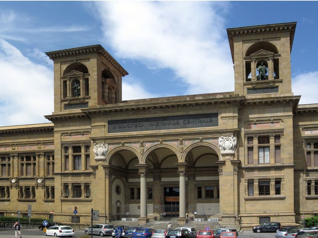 La Biblioteca Nazionale Centrale di Firenze è la più grande biblioteca italiana con 6 milioni di volumi